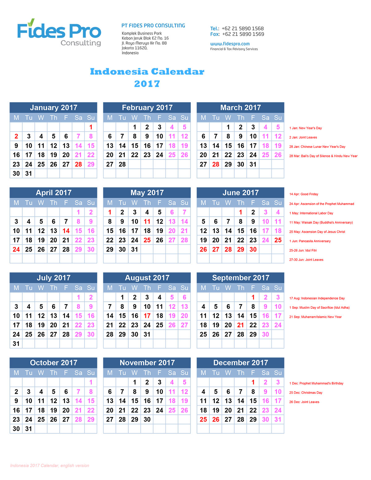 Indonesia Calendar_2017_english